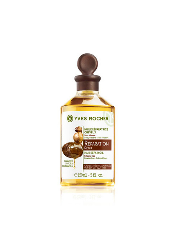 Yves Rocher, масло для волос с бабассу, жожоба и макадамией